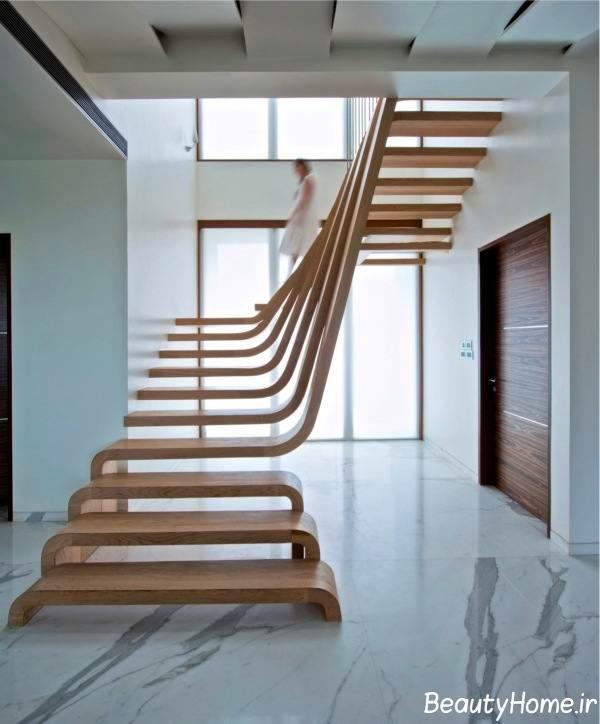 انواع راه پله های چوبی مدرن