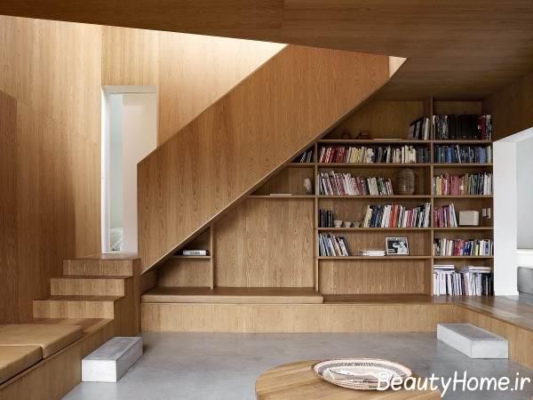 نمونه راه پله های چوبی مدرن