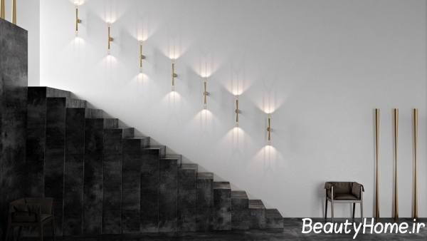 نورپردازی در زیبایی راه پله