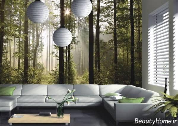 کاغذ دیواری زیبا پوستری با طرح طبیعت