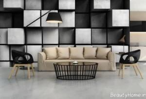کاغذ دیواری سیاه و سفید پوستری