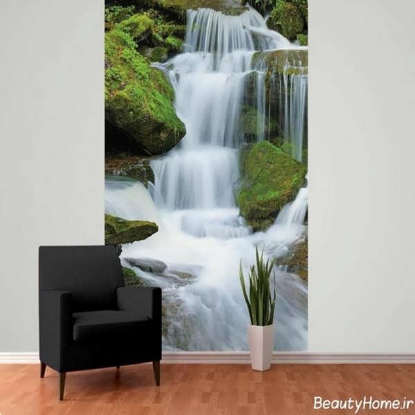 کاغذ دیواری جذاب پوستری با طرح آبشار