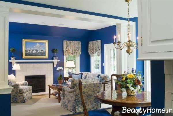 مبلمان آبی و چیدمان آن در دکوراسیون مدرن خانه های با رنگ آبی
