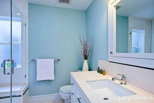 طراحی و دکوراسیون حمام با رنگ آبی