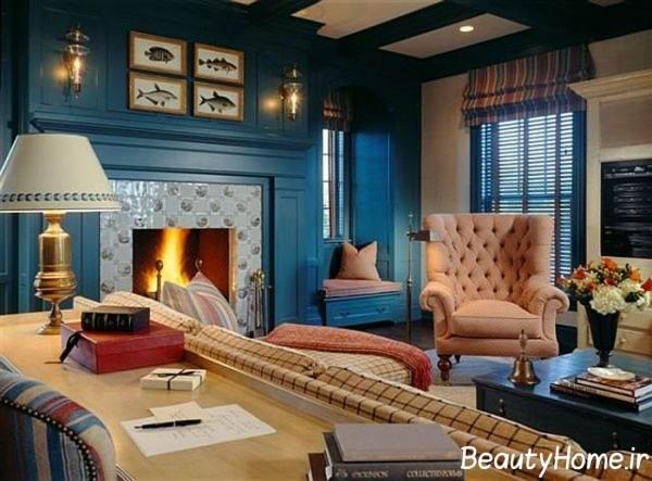 رنگ های مناسب و هماهنگ با رنگ آبی برای دکوراسیون اتاق پذیرایی