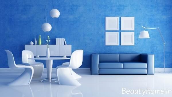 فواید استفاده از رنگ آبی در اتاق نشیمن