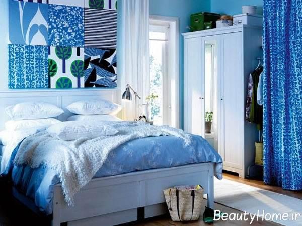 طراحی اتاق پذیرایی با آبی فیروزه ایی