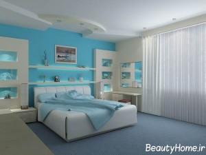 انتخاب وسایل مناسب در دکوراسیون اتاق خواب آبی