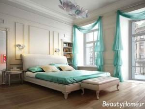 انواع مدل پرده های زیبا و شیک اتاق خواب عروس