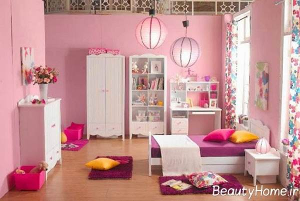 دکوراسیون صورتی اتاق کودک دختر و پسر