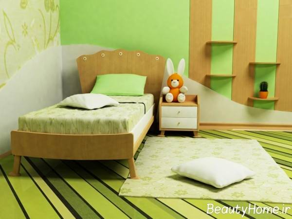 فواید رنگ سبز برای اتاق خواب کودکان