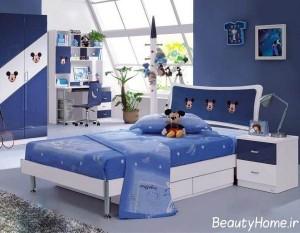 دکوراسیون اتاق کودک با استفاده از رنگ آبی