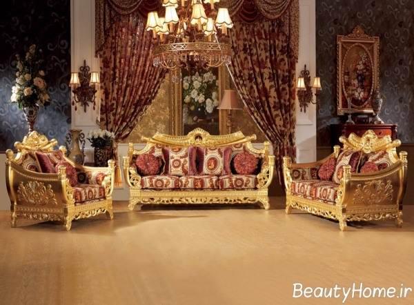 مدل های مبل سلطنتی برای خانه های بزرگ