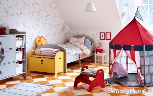 نحوه چیدمان سرویس خواب در اتاق کودکان