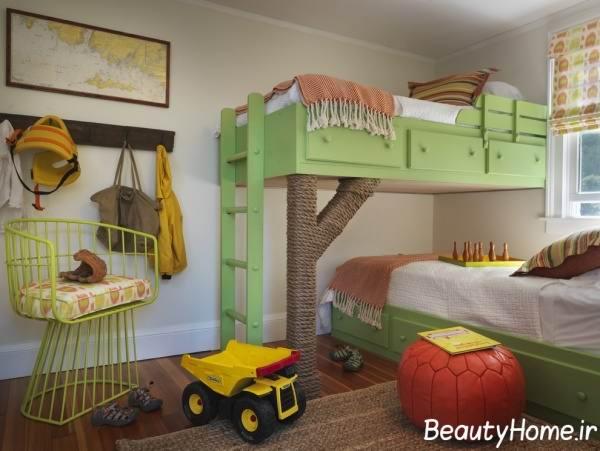 نمونه تخت های دو طبقه برای اتاق خواب کودک
