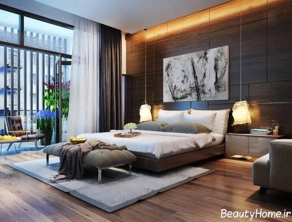نورپردازی سقف اتاق خواب
