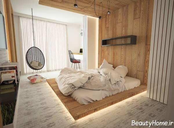 نورپردازی شیک و زیبا اتاق خواب