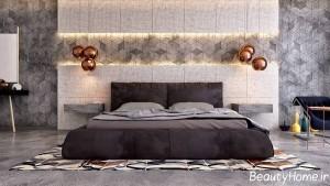نورپردازی شیک و مدرن اتاق خواب ایرانی