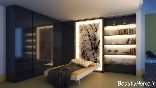 نورپردازی شیک و مدرن اتاق خواب