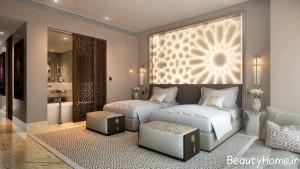 نورپردازی اتاق خواب دو نفره شیک