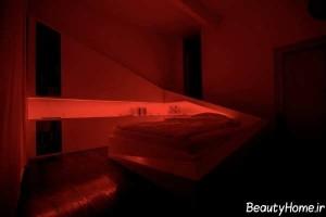 نورپردازی مدرن و زیبا اتاق خواب