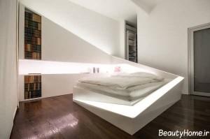 دیزاین دکوراسیون نورپردازی شیک و مدرن برای اتاق خواب
