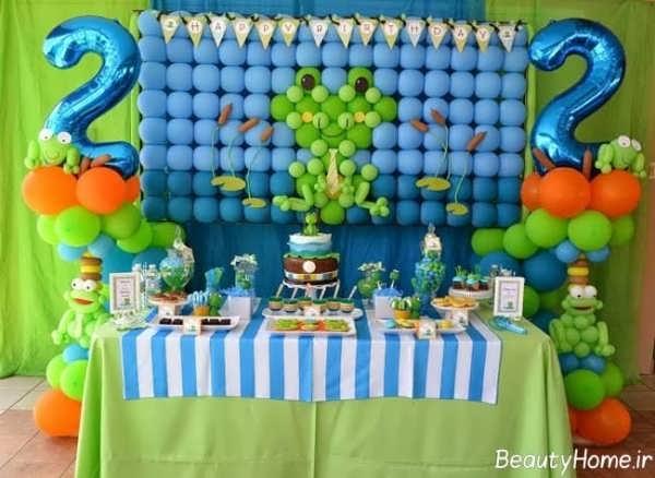 تم تولد با رنگ آبی و سبز برای کودکان پسر