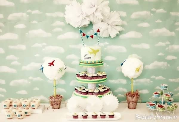 تم تولد آسمان و هواپیما برای کودکان پسر