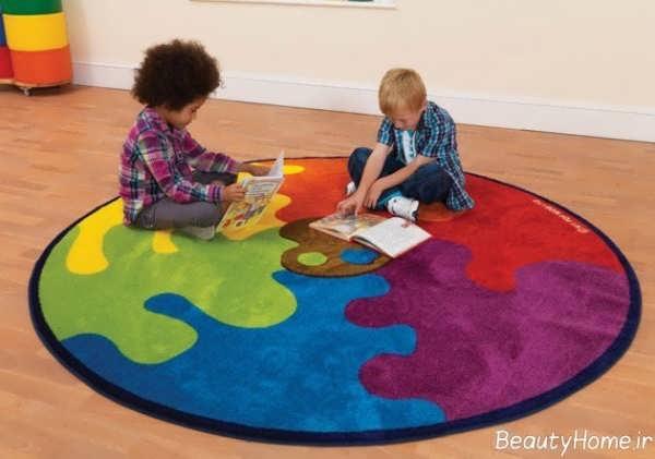 فرش اتاق کودک با طراحی زیبا