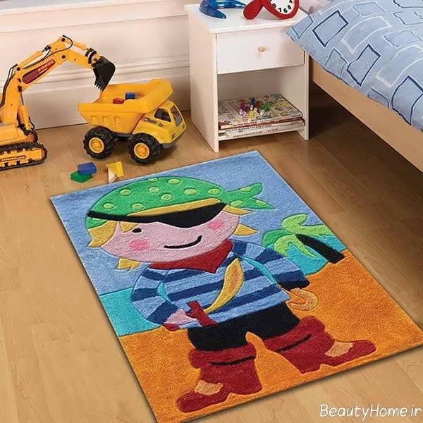مدل فرش برای اتاق کودک با طرح فانتزی