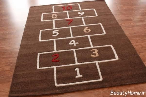 فرش اتاق کودک با طرحی متفاوت