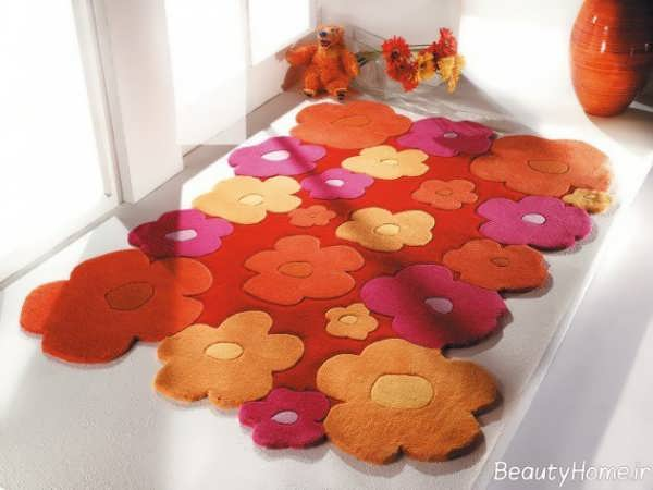 مدل فرش اتاق کودک با طرح گل