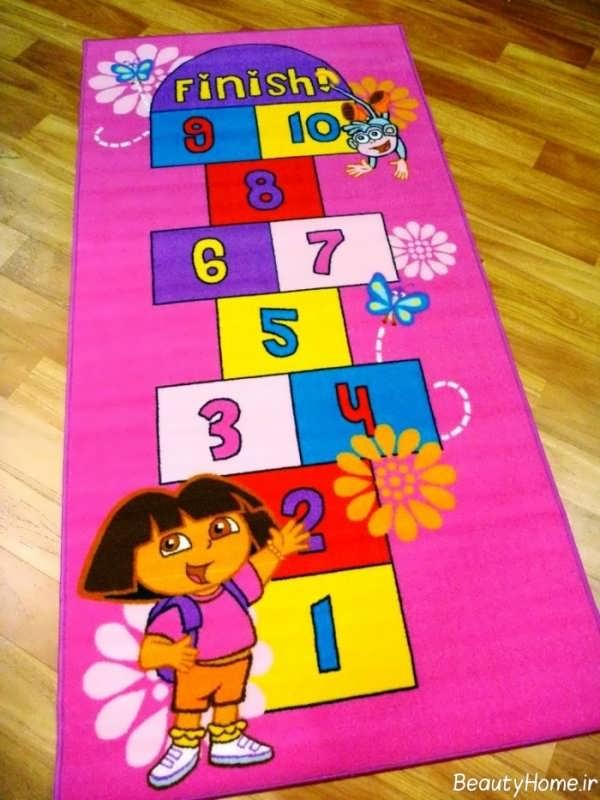 مدل فرش اتاق برای کودکان دختر