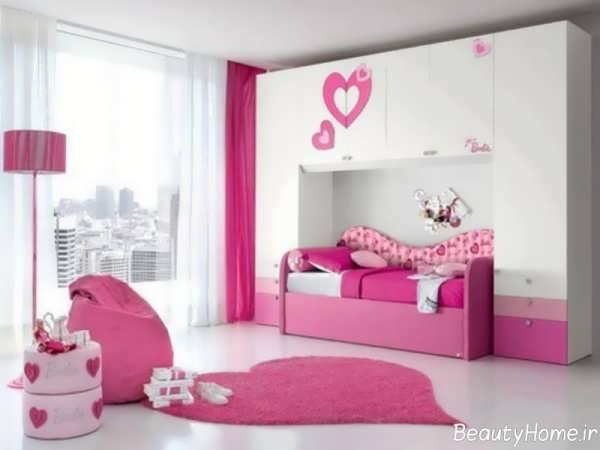مدل فرش اتاق کودکان به شکل قلب