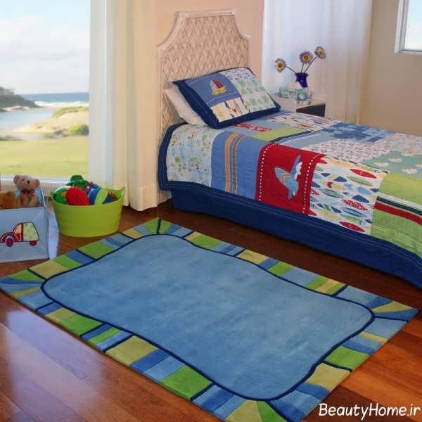 فرش کودک با طرح ساده