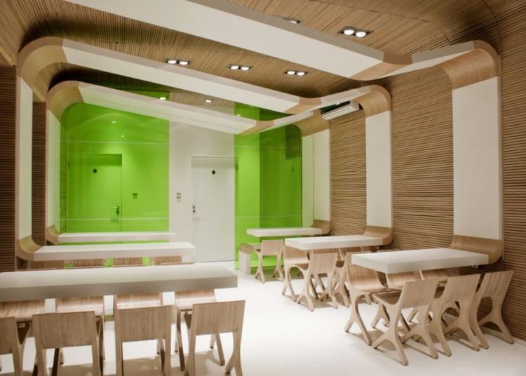 دکوراسیون فست فود با طراحی داخلی شیک و مدرن