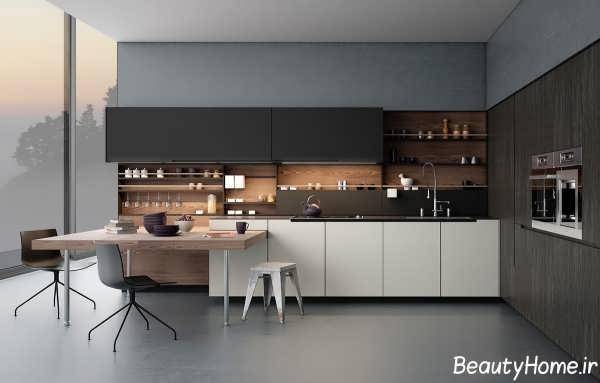 چیدمان فوق العاده و جذاب آشپزخانه