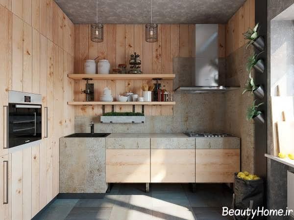 ایجاد کردن باغچه کوچک در طراحی دکوراسیون داخلی آشپزخانه
