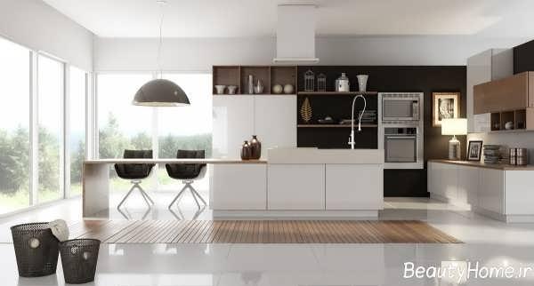 چیدمان زیبا و جذاب برای آشپزخانه های کوچک