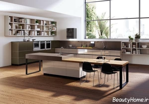 چیدمان زیبا و فوق العاده آشپزخانه