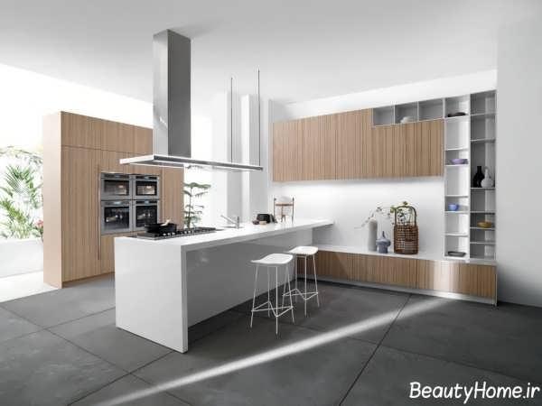 چیدمان زیبا و جذاب آشپزخانه برای انواع خانه های مدرن