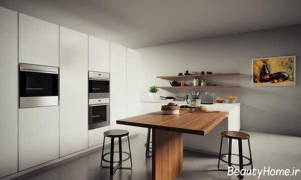 چیدمان وسایل آشپزخانه کوچک