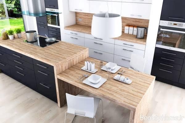 چیدمان زیبا برای آشپزخانه های لوکس و مدرن