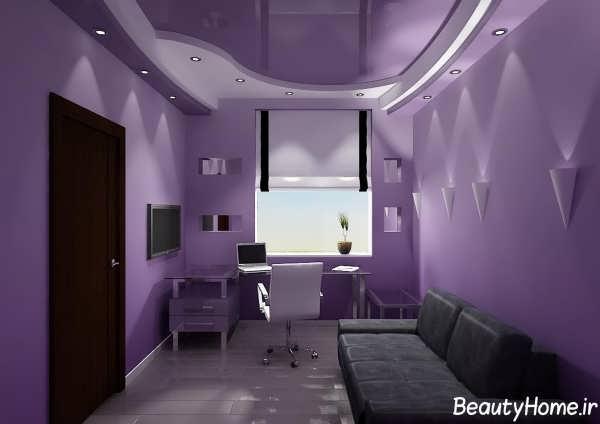 کناف با طرحی زیبا و تفاوت برای اتاق خواب