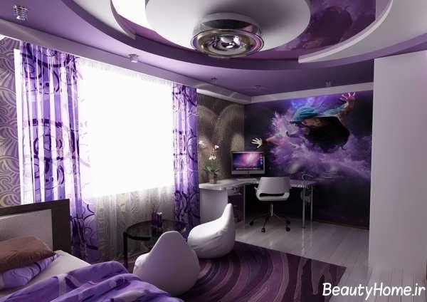 کناف زیبا و شیک اتاق خواب