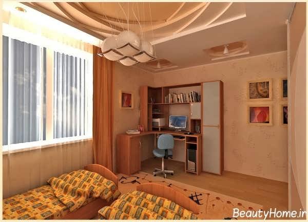 طراحی کناف در درون اتاق خواب