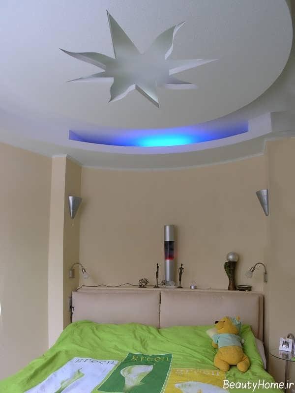 کناف با طراحی مدرن برای اتاق خواب