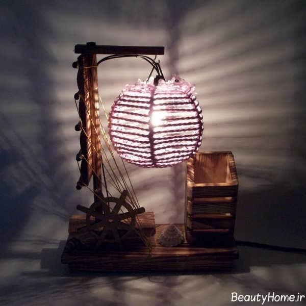 مدل آباژور چوبی برای دکوراسیون های داخلی سنتی