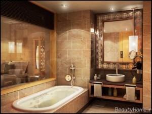 طراحی حمام زیبا و مدرن