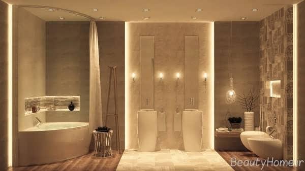 طراحی دکوراسیون حمام های لوکس